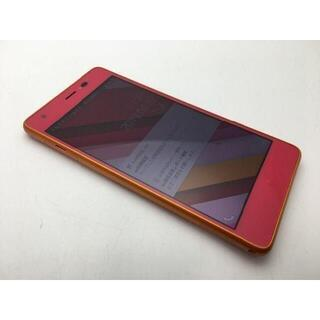 キョウセラ(京セラ)のSIMフリー美品au Qua phone QZ KYV44 カシスピンク518(スマートフォン本体)