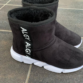ALGY ブラック 中ボア ブーツ 20cm