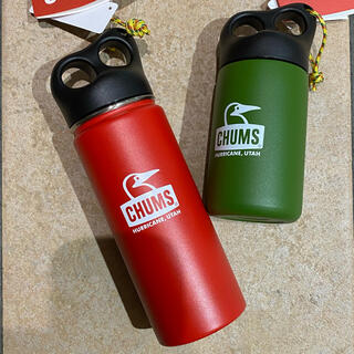 CHUMS -  CHUMS チャムス キャンパーステンレスボトル Red & Olive