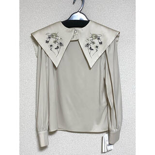 Ameri VINTAGE - ameri vintage LAUREN FALSE COLLAR BLOUSE