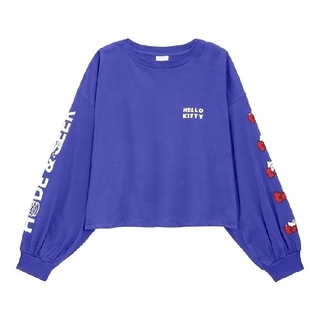 GU - GUクロップドTシャツハローキティHello KittyサンリオXLサイズブルー