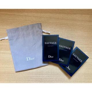 Dior - 【新品】Dior ソバージュ オードゥ トワレ スプレー ×3 & 巾着のセット