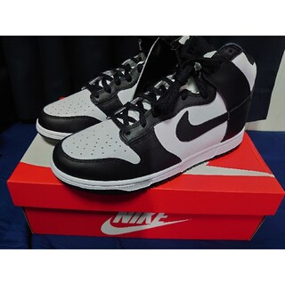 NIKE - NIKE WMNS DUNK HIGH WHITE/BLACK 27.5cm