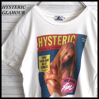 HYSTERIC GLAMOUR - 【超激レア】ヒステリックグラマー★ビックロゴ ビスガール Tシャツ ホワイト色