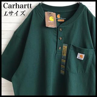 carhartt - 【新品未使用】カーハート☆刺繍ロゴ ヘンリーネック Tシャツ XLサイズあり