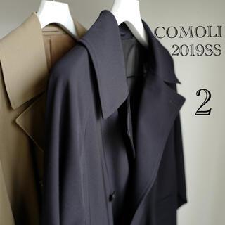 COMOLI - COMOLI コモリ WOOL GABARDINE DOUBLE コート