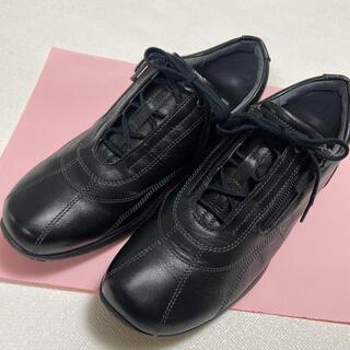 アシックス(asics)のペダラ pedala ウォーキングシューズ 23cm 2E 黒(ウォーキング)