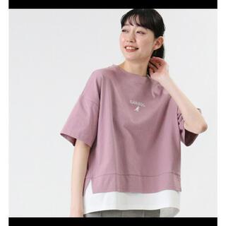 新品 フェイクレイヤードTシャツ ウィメンズ(Tシャツ/カットソー(半袖/袖なし))