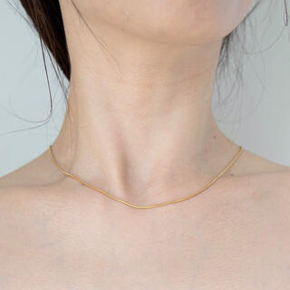 DEUXIEME CLASSE - Silver925,18kgp_Ines thin necklace