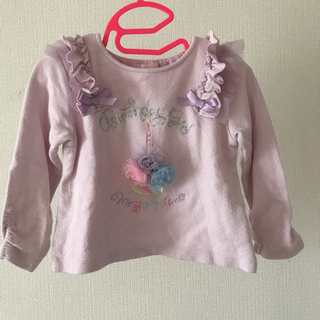 mezzo piano - 着画あり☆ mezzo piano チュールカップケーキTシャツ 90