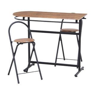 カウンターテーブル×1・チェア×2 3点セット(ダイニングテーブル)