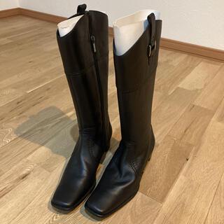 イング(ing)のロングブーツ 黒 ブーツ ing イング 黒 革 くつ 23.5(ブーツ)