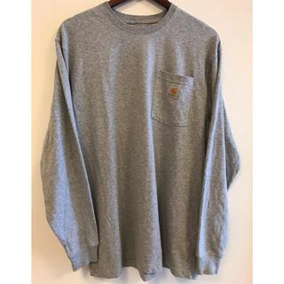 カーハート(carhartt)のcarhartt  カーハート k126  ロンt   ヘザーグレー M (Tシャツ/カットソー(七分/長袖))