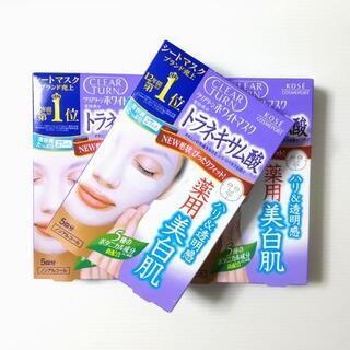 コーセー(KOSE)のクリアターン ホワイトマスク(トラネキサム酸)5枚 27ml ×3箱セット(パック/フェイスマスク)