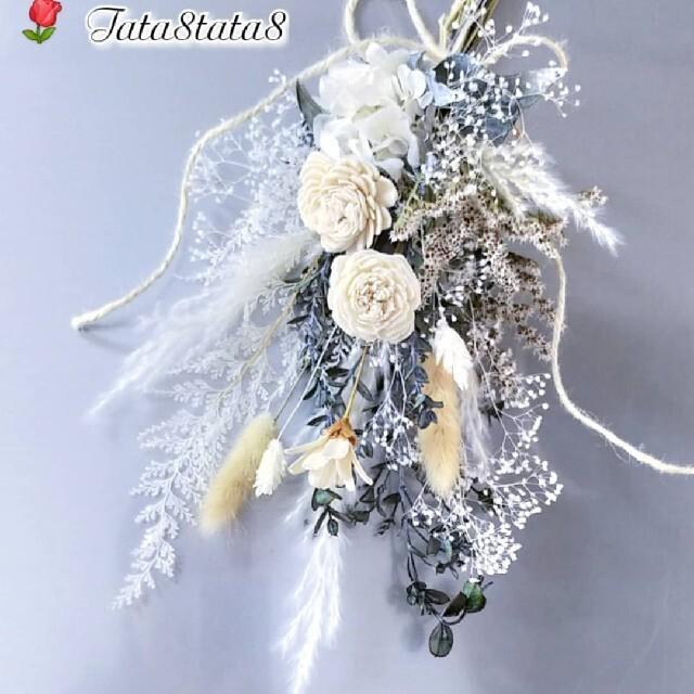 ♥再販 ドライフラワー花束 *スワッグ*ブーケ ハンドメイドのフラワー/ガーデン(ドライフラワー)の商品写真