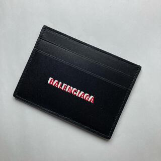 Balenciaga - バレンシアガ カードケース パスケース 定期入れ ブラック レザー ホルダー