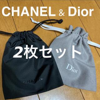 CHANEL - シャネル ディオール 2枚セット 巾着 ポーチ 新品未使用 ノベルティ