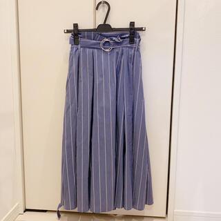 ストライプスカート(ひざ丈スカート)