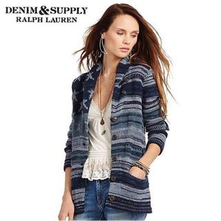 デニムアンドサプライラルフローレン(Denim & Supply Ralph Lauren)の激安 美品 正規 ラルフローレン ショールカラー カーディガン 星条旗(カーディガン)