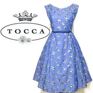 TOCCA - TOCCA ワンピース 刺繍 花柄 ブルー 0 2019SS