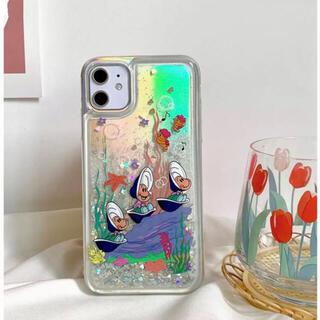 ディズニー(Disney)の不思議の国のアリス ヤングオイスターグリッターiPhone12/12pro(iPhoneケース)