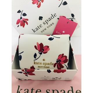 kate spade new york - レア☆Kate spade お箱付き折り財布花柄