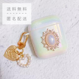 ♡新品・未使用♡jewelry airpods case 1/2世代【ホワイト】(ヘッドフォン/イヤフォン)