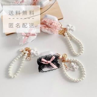 ♡新品・未使用♡angel airpods case 1/2世代【ホワイト】(ヘッドフォン/イヤフォン)