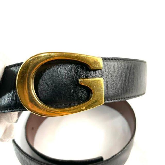 Gucci(グッチ)の【良品】GUCCI グッチ ベルト G金具 メンズ ベルト ブラック レザー. メンズのファッション小物(ベルト)の商品写真