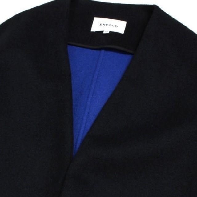 ENFOLD(エンフォルド)の★本日限定値下げ★エンフォルド ノーカラーコート レディースのジャケット/アウター(ロングコート)の商品写真