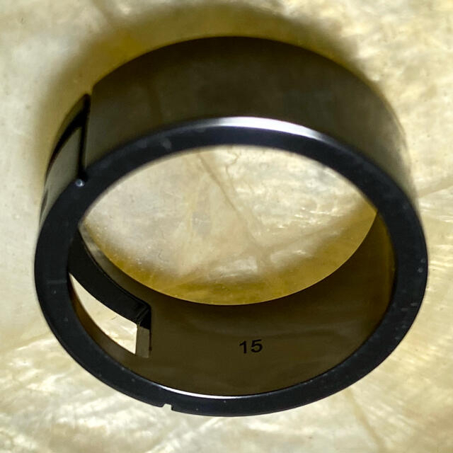 Gucci(グッチ)の【美品】GUCCI グッチ リング ブラック シルバー 925  サイズ: 15 メンズのアクセサリー(リング(指輪))の商品写真
