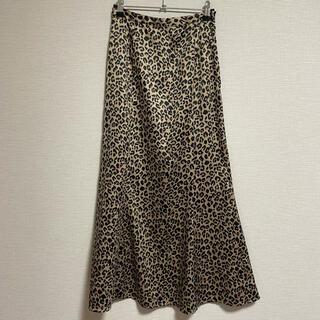 moussy - マウジー レオパードマキシスカート