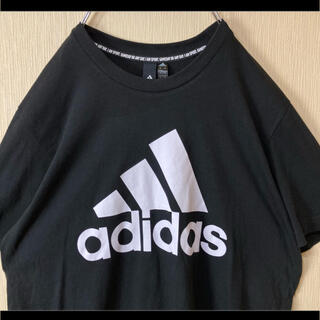 アディダス(adidas)のadidas アディダス Tシャツ ブラック 黒 パフォーマンスロゴ XO(Tシャツ/カットソー(半袖/袖なし))