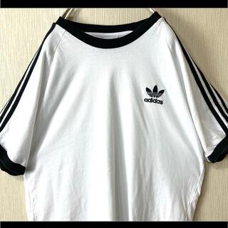 アディダス(adidas)のadidas アディダス Tシャツ 半袖 ホワイト トレフォイル胸元刺繍 2XO(Tシャツ/カットソー(半袖/袖なし))