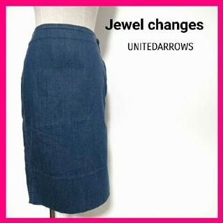 ジュエルチェンジズ(Jewel Changes)の★Jewel changes アローズ デニム タイトスカート 36 S(ひざ丈スカート)