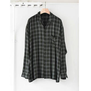COMOLI - [COMOLI] レーヨン オープンカラーシャツ GREEN