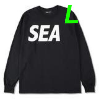 SEA - SEA L/S T-SHIRT / Black-White Lサイズ