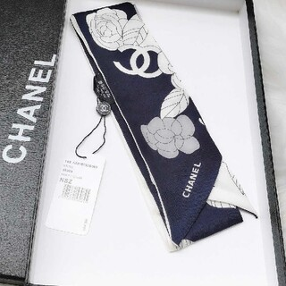 CHANEL - CHANEL シャネル シルク ツイル ヘアバンド ブラック