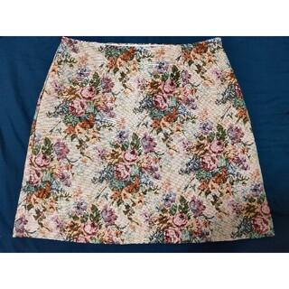 ジーユー(GU)のGU 花柄台形スカート(ミニスカート)