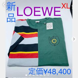 ロエベ(LOEWE)の新品 LOEWE ロエベ Tシャツ EYE ボーダー 切替 メンズ XL(Tシャツ/カットソー(半袖/袖なし))