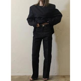 ジョンリンクス(jonnlynx)のfumika uchida BONDING STRAIGHT PANTS(デニム/ジーンズ)