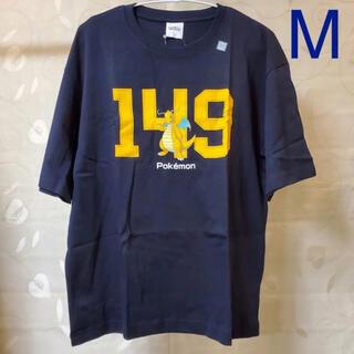 ジーユー(GU)の◆ GU ポケモン コットンビッグT 5分袖 ネイビー M(Tシャツ/カットソー(半袖/袖なし))