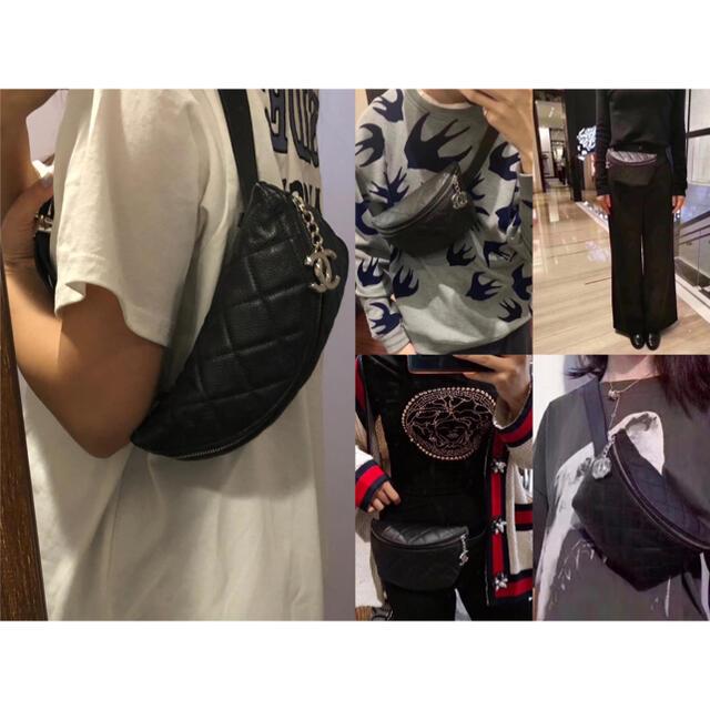 CHANEL(シャネル)の極美品/正規品 シャネル キャビアスキン ボディバッグ ウェストバッグ レディースのバッグ(ボディバッグ/ウエストポーチ)の商品写真