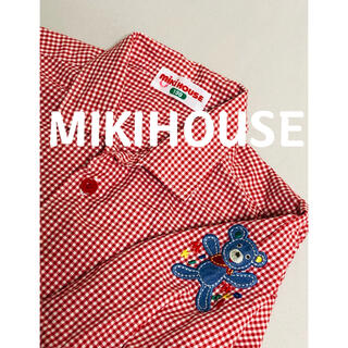 mikihouse - ミキハウス MIKIHOUSE 長袖 チェックシャツ レトロ 100