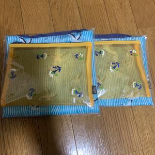 宝島社 - リンネル6月号付録 幸せモチーフのエコバッグ&刺繍メッシュポーチ 2セット