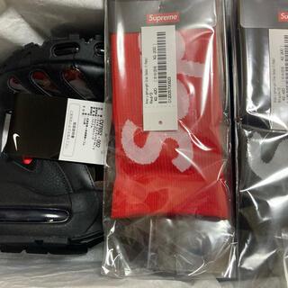ナイキ(NIKE)のsupreme airmax96 ソックス2本セット 27.5 黒 赤 新品(スニーカー)