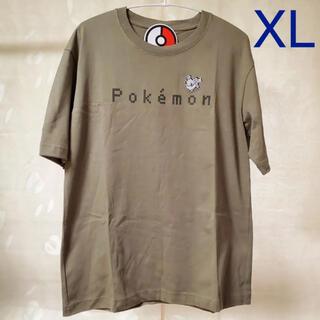 ジーユー(GU)の◆ GU ポケモン コットンビッグT 5分袖 オリーブ XL(Tシャツ/カットソー(半袖/袖なし))