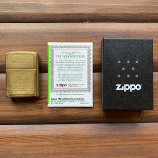 ジッポー(ZIPPO)の真鍮 ジッポー(タバコグッズ)