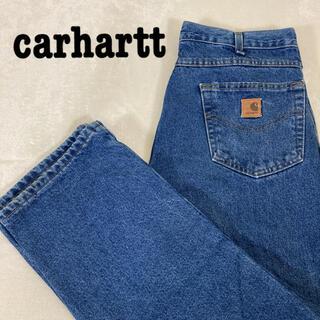 carhartt - Carhartt カーハート デニムパンツ 革ロゴ インディゴ メキシコ製