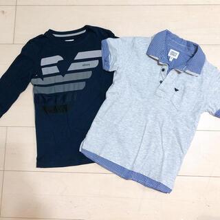 アルマーニ ジュニア(ARMANI JUNIOR)のアルマーニジュニア❤7A 124cm ポロシャツ ロンティ ロンT Tシャツ(Tシャツ/カットソー)